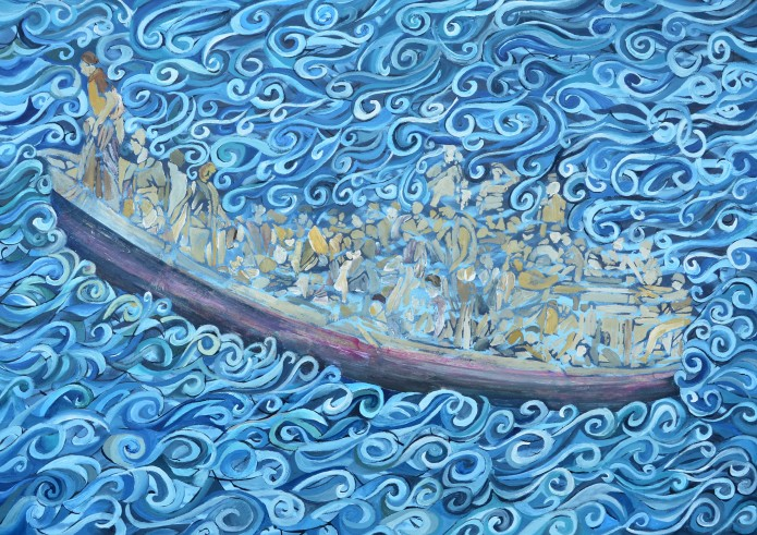 """The Voyage"" 2014 Gouache on paper. 60 x 84cm."