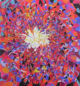 """""""The Total Perspective Vortex pastel on paper 90 x 80 cm"""