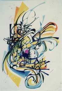 """Trebble-clef"" 1989 pastel on paper 60 x 50 cm"