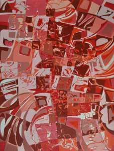"""""""Vulcan's Hammer"""" 1990 acrylic on canvas 100 x 70 cm"""