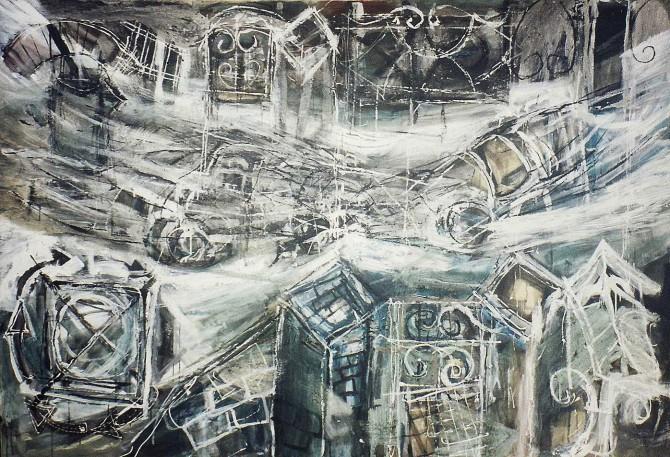 """Probation Broken"" 1994 160 x 210 m"