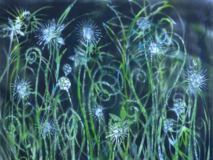 """""""Child's Garden"""" 2015 64 x 70cm"""